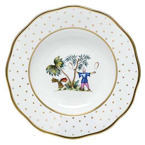 Herend Asian Garden Porcelain Rim Soup Plate Motif 5