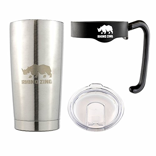 Travel Insulated Coffee Mug Stainless Steel Tumbler 20 Oz with Handle