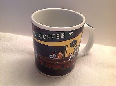 Starbucks Nighthawks Diner Scene Inspired Ceramic Coffee Cup Mug by Chaleur