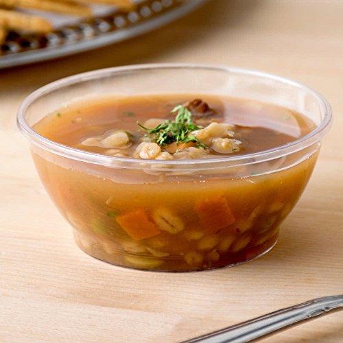 80 Count CLEAR 6 oz Plastic Dessert  Soup Bowl w Signature Party Picks