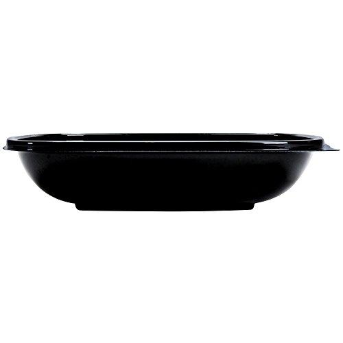 Square Bowl2 Medium 24 oz Black Plastic Bowl - 7 12 sq x 1 12 D