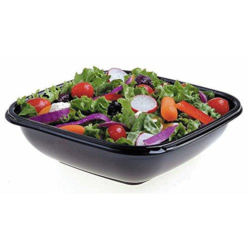 Square Bowl2 Small 16 oz Black Plastic Bowl - 5 Sq x 3 D