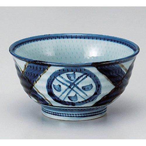 Ramen Soba Udon Noodle Bowl utw381-4-554 62 x 32 inch Japanece ceramic Rust grid crest 50 Hantanedonburi tableware