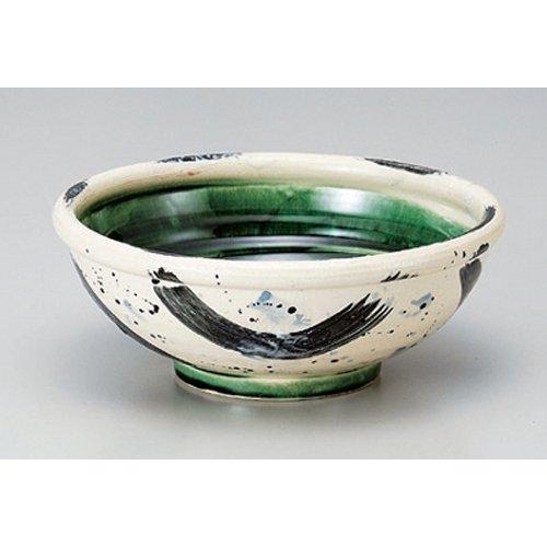Ramen Soba Udon Noodle Bowl utw382-12-284 62 x 33 inch Japanece ceramic Oribe zaffer brush marks 5 Sundonburi tableware