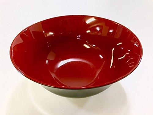 JapanStyle Japanese Ramen Donburi Bowl dia 183×80㎜ 82g Black x Vermilion