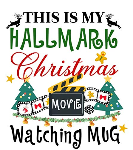 Amandir Coffee Mug  This is My Christmas Movies Watching Mug Funny Christmas Mug Coffee Cups Gift for Family Friends Bonus A Keychain Pendant Greeting Card 11 oz