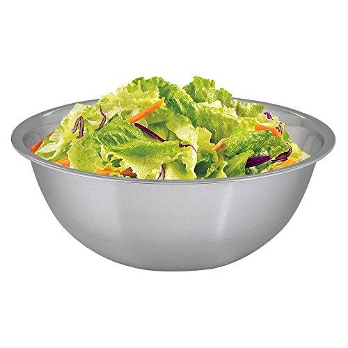 Kosma Stainless Steel Salad Bowl  Mixing Bowl  Serving Bowl - 24cm 3 Litres