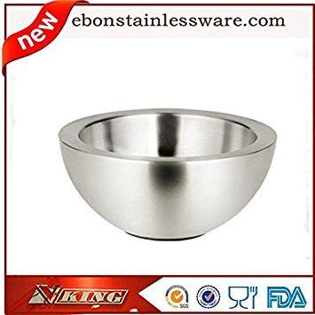 SUVERAAN Double layer stainless steel fruit plate stainless steel salad bowl fruit bowl Cooking tools Tableware