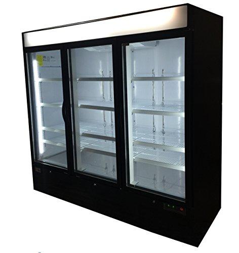 Commercial 72cf Frozen Food Ice Cream Glass Door Reach In Freezer Merchandiser
