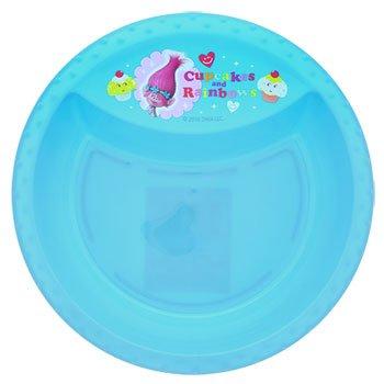 Dreamworks Trolls Dinnerware Plastic Kids Blue-Bowl