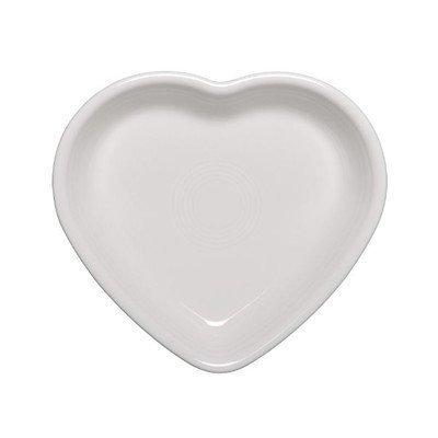 Homer Laughlin 100-1445 Medium Heart Bowl White
