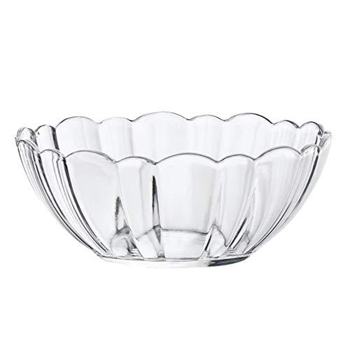 Hemoton Clear Salad Bowl Acrylic Mixing Bowls Dessert Bowls Food Serving Bowls for Fruit Vegetable Dessert Snack 132cm