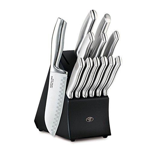 Hampton Forge 13 Piece Kobe Cutlery Block Set Metallic