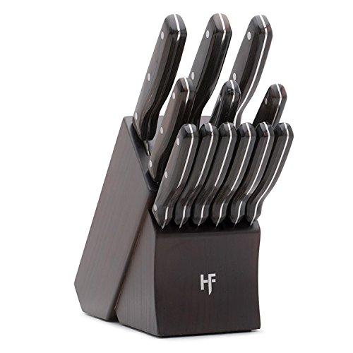 Hampton Forge HMC01B444A Norwood Cutlery Block Set Wood