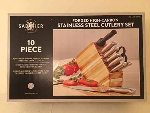 Sabatier 10PC Stainless Steel Cutlery - Block Set