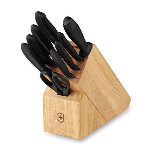 Victorinox Swiss Army Cutlery Swiss Classic Knife Block Set 10-Piece