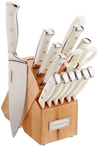 Cuisinart C77WTR-15P Triple Rivet Collection 15-Piece Cutlery Block Set White