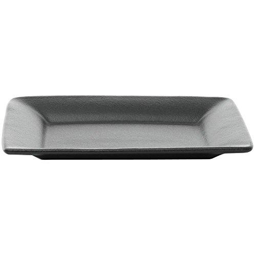 GET Bugambilia Coated Aluminum Italian Rectangular Black Platter - 14L x 10W x 1D
