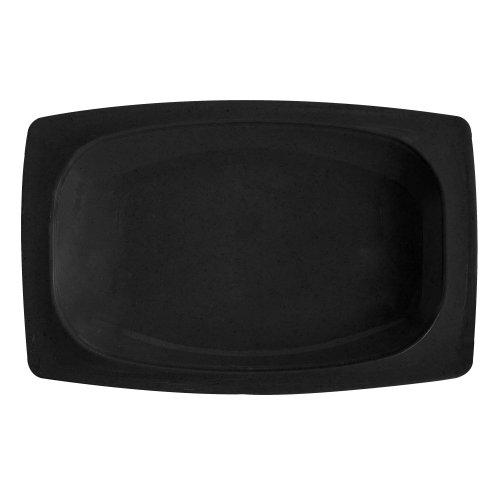 GET OP-118-BK Black 1225 x 8 Oval Platter