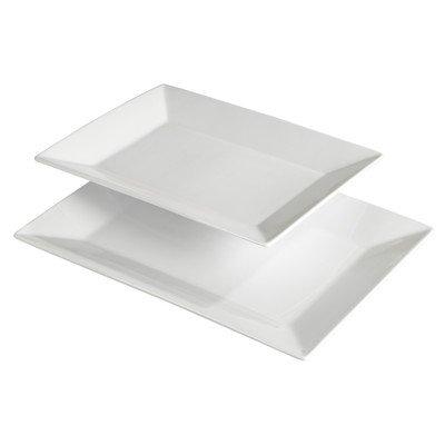 2 Piece Gemma Porcelain Serving Platter Set