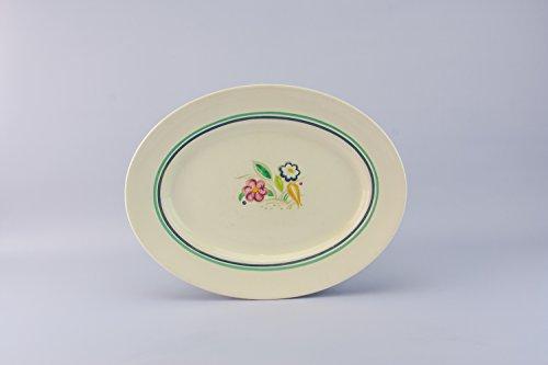 Mid-Century Modern Pottery Serving PLATTER Floral Susie Cooper Vintage Cream Elegant Medium English Mid 20th Century LS