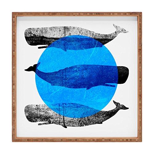 Deny Designs Elisabeth Fredriksson Whales IndoorOutdoor Square Tray 16 x 16