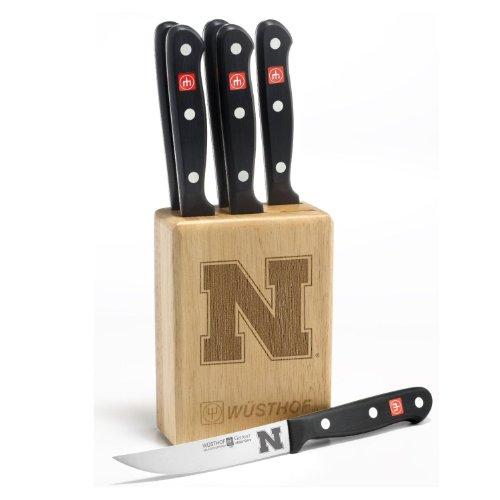 Gourmet 7 Pc Nebraska Steak Knife Block Set - Clearance