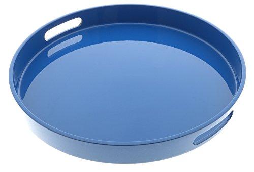 Kotobuki 270-896 Round Gloss Lacquer Serving Tray 13-12 Blue