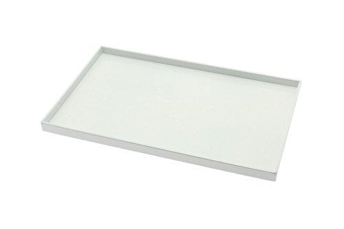 Kotobuki Rectangular White Lacquer Serving Tray 10-12x6-58