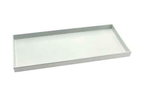 Kotobuki Rectangular White Lacquer Serving Tray 14-14-inch