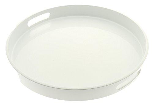 Kotobuki Round Gloss Lacquer Serving Tray 13-12 White