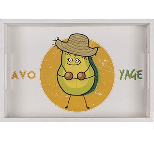 Rectangular Wooden Tray Avocado - small