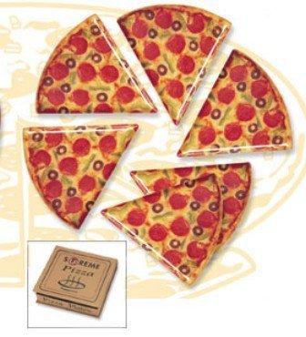 Supreme Housewares 70901 Pizza Slice Plates Box Multi