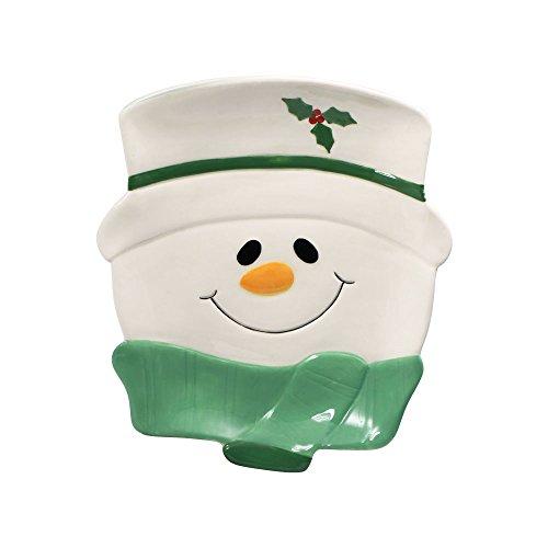 Pfaltzgraff Winterberry Snowman Figural Cookie Plate 8-14-Inch