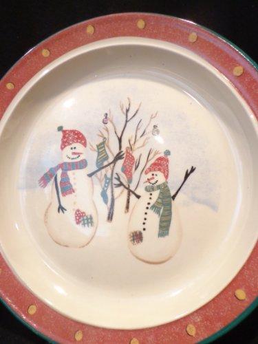 ROYAL SEASONS SNOWMAN Stoneware Dinner Plate 10 Diameter Christmas Tableware