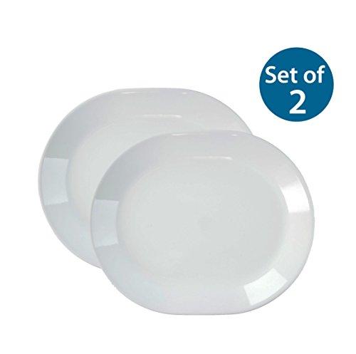 Corelle Livingware 12-14-Inch Serving Platter Winter Frost White Winter Frost White x2