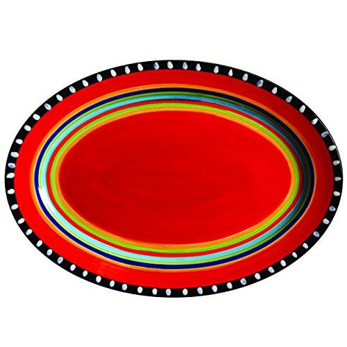 Gibson Elite Pueblo Springs 14 Handpainted Platter Oval