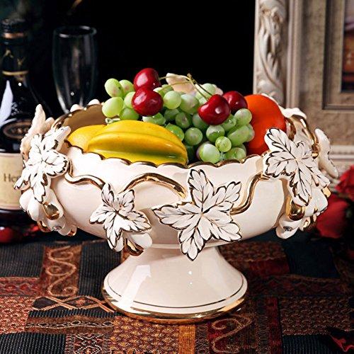 FashionEuropean StyleCeramic Fruit BowlCreative Fruit TrayCoffee Table Ornaments-A