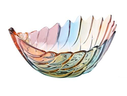 Home Fruit Basket BowlTabletop Crystal Glass Fruit Plates Multicolour L