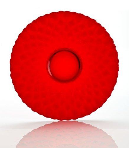 Mosser Glass Elizabeth Fruit Plate in Red