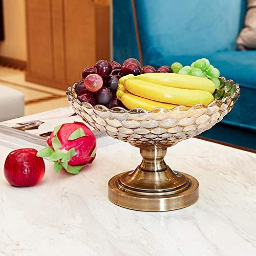 amazyn European neo-Classical Decorative Utensils Crystal Glass Fruit Plate Tea Table Decoration