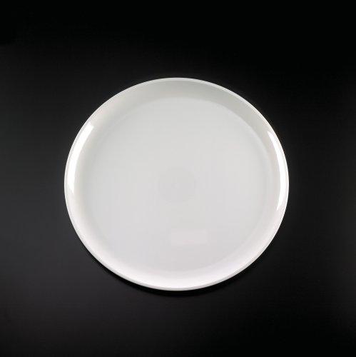 16 WHITE ELEGANT ROUND PLASTIC PARTY PLATTER TRAYS 25CS