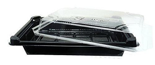 World Centric SU-CS-75 Compostable Ingeo Sushi Tray Set 7 x 5 x 2 Pack of 300