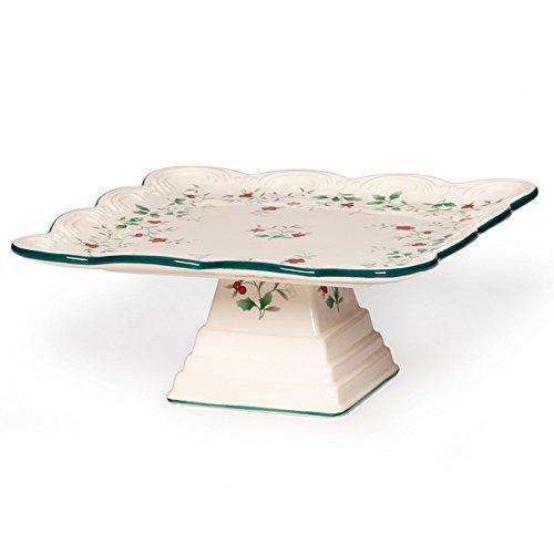 Winterberry Square Cake Plate