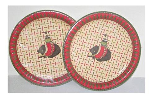 Debbie Mumm  Jo Ann Fabrics Holiday Dessert Cake Plates - Set of 2