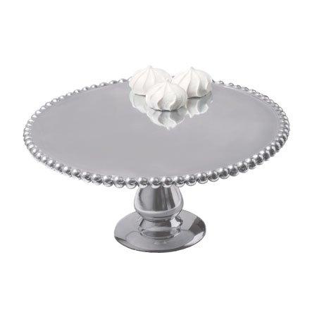 11 Beaded Aluminum Cake Stand