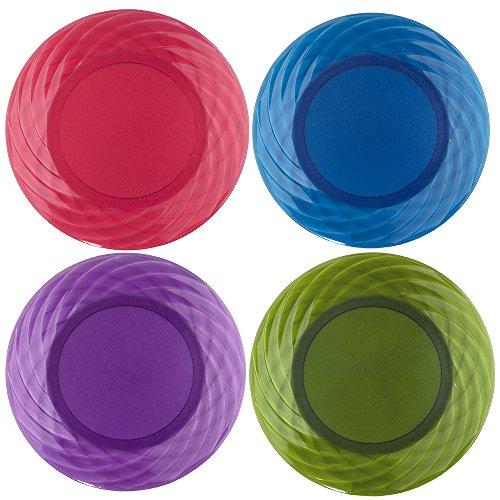 Optix 1025-inch Plastic Plates  Set of 8 in 4 Assorted Colors