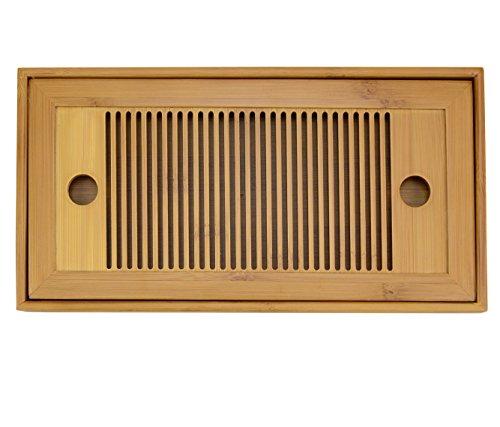 Mozentea 106x54x1 Chinese Gongfu Tea Bamboo Tea Tray-Mini Size 1