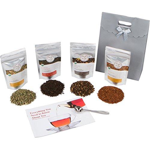 Golden Moon Loose Leaf Organic Tea Sampler Gift Set 48 Servings of Tea