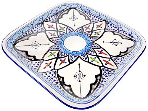 Le Souk Ceramique TIB36 Stoneware Square Platter Tibarine